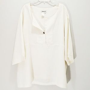 Coldwater Creek Linen Tunic Top Off-white Size 3X